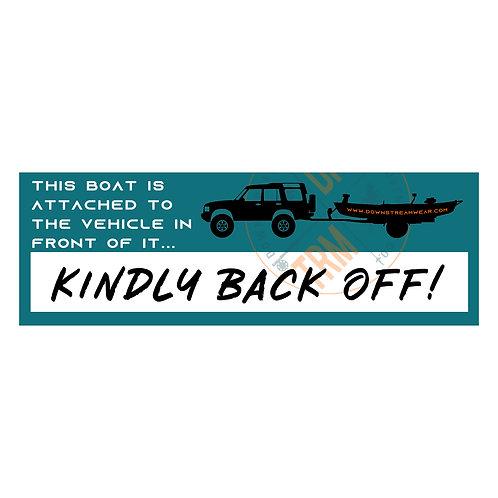 Back Off Stern Sticker