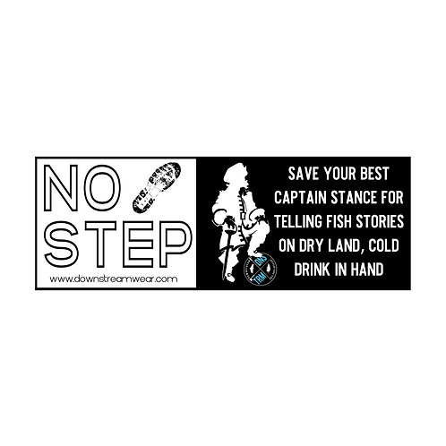 "Downstream ""No Step"" Gunwale Sticker"