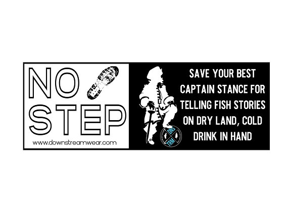 "Downstream ""No Step"" Gunwale Sticker"