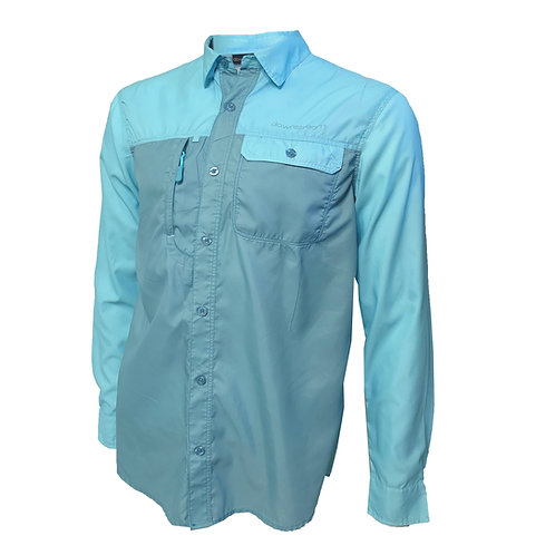 Downstream Mens (Uni) LS Button A/C Fishing Shirt