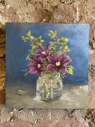Pasque Flowers and Spirea