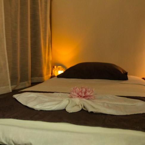 Thajská masážna posteľ