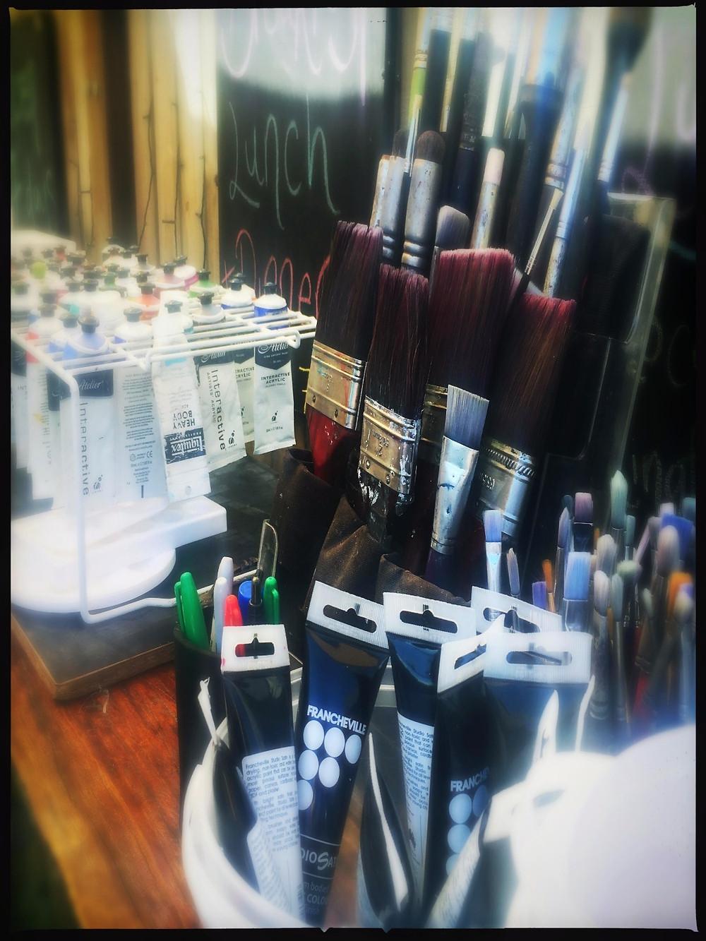 Art Supplies - Ready for Art on a Sunday