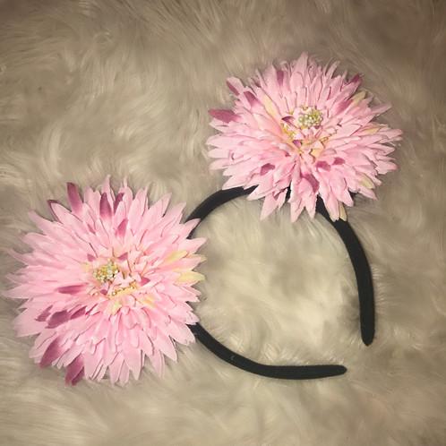 Paisley mouse ears dark pink flower halos mad for halos mightylinksfo