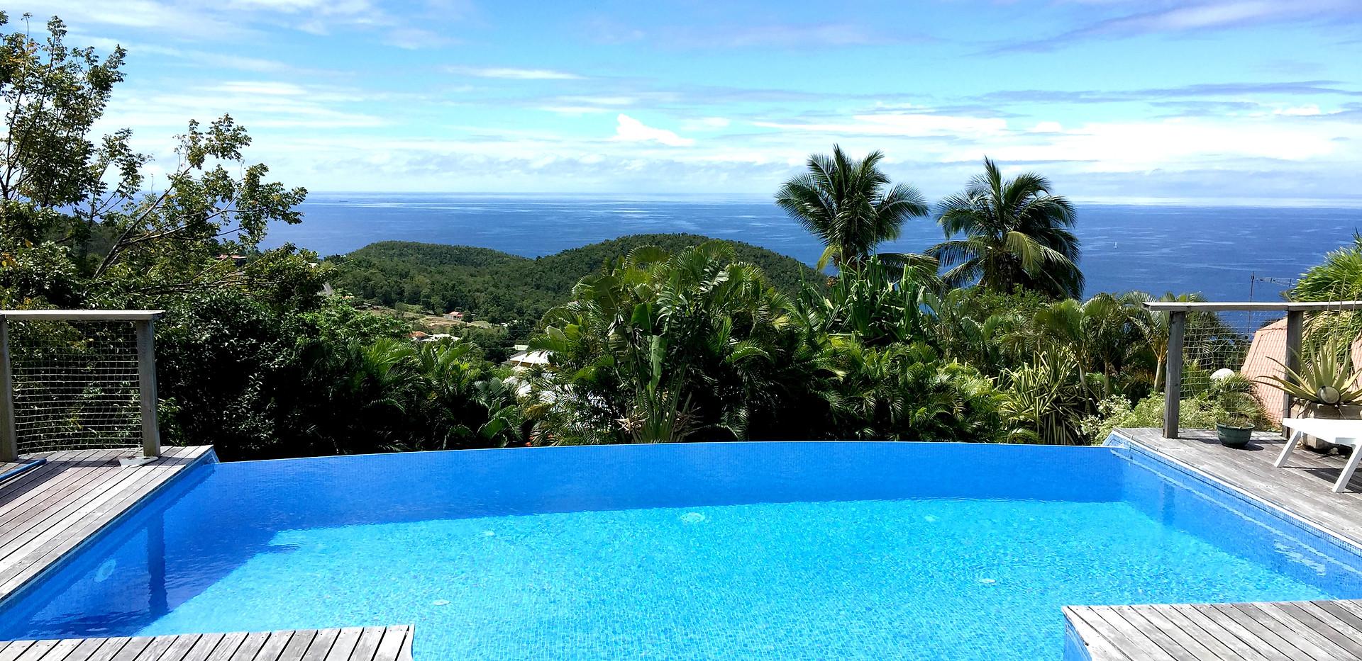 Vue mer et piscine
