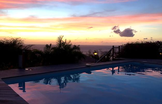 coucher de soleil Villa Tilili