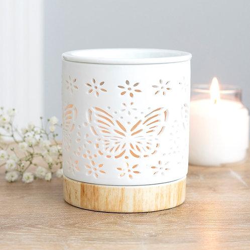 Matte Ceramic Butterfly Wax Warmer