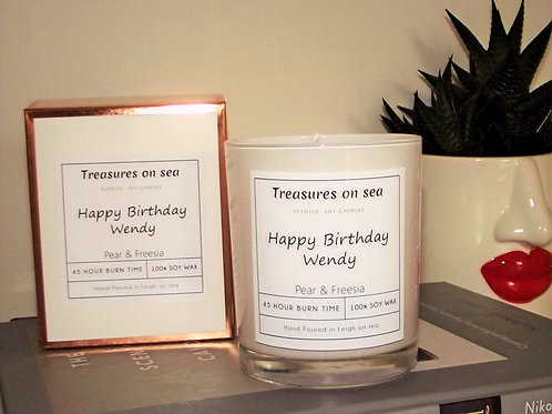 Personalised Soy Wax Candle - Various Scents