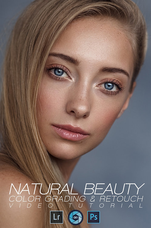 Natural Beauty Color Grading & Retouch Video Tutorial