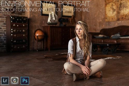 Environmental Portrait Color Grading & retouch Video Tutorial