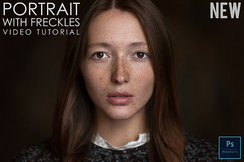 Portrait With Freckles Video Tutorial