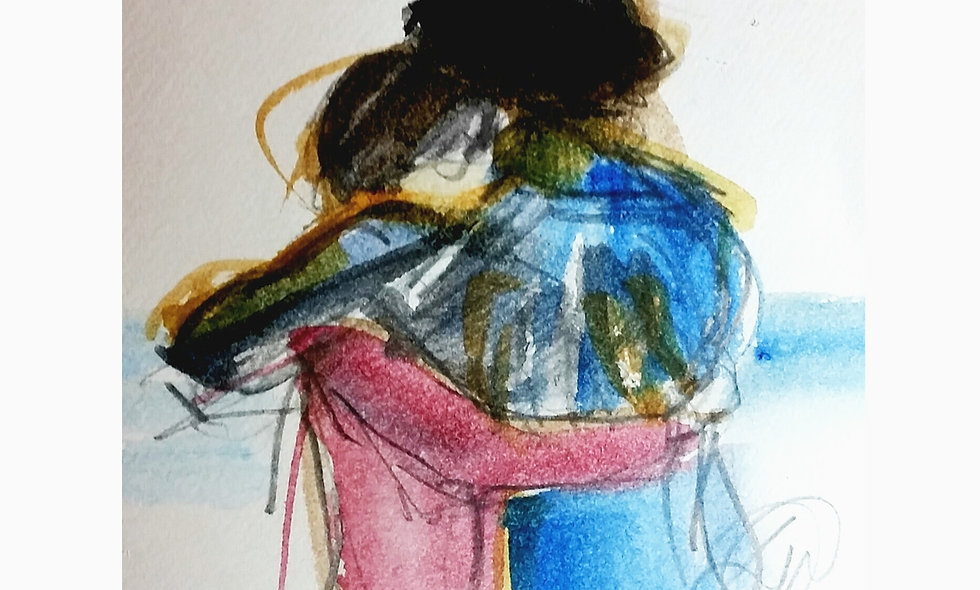 WATER COLOUR - THE HUG