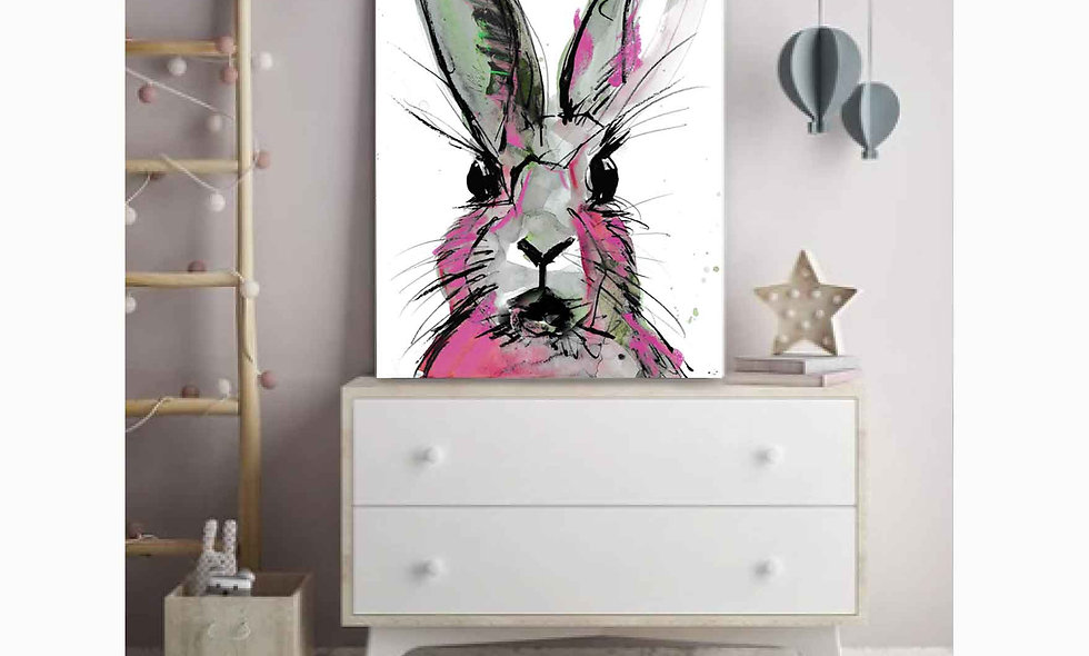 PAINTING - THERE'S A HARE IN THERE