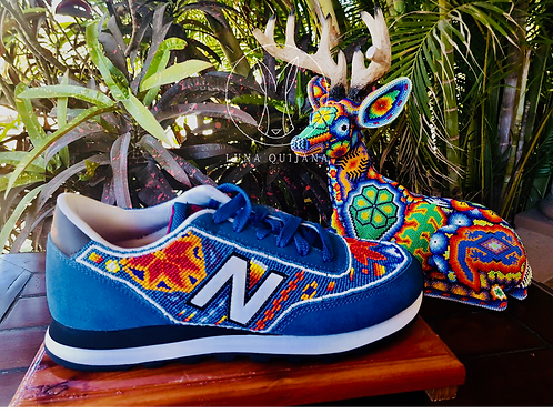 Real Huichol Handmade Tennis Shoes