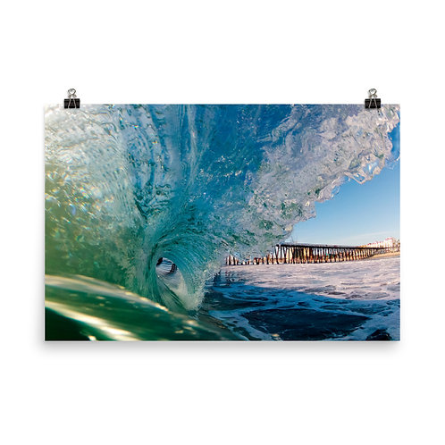 Rosarito Beach Mex Pier -Photo paper poster