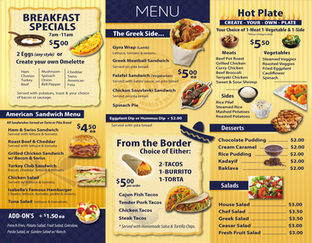 Take out tri-fold Menu Design