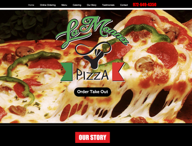 Website Design - Lamanna Pizza