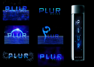 Water bottle and Logo Design and Mockup