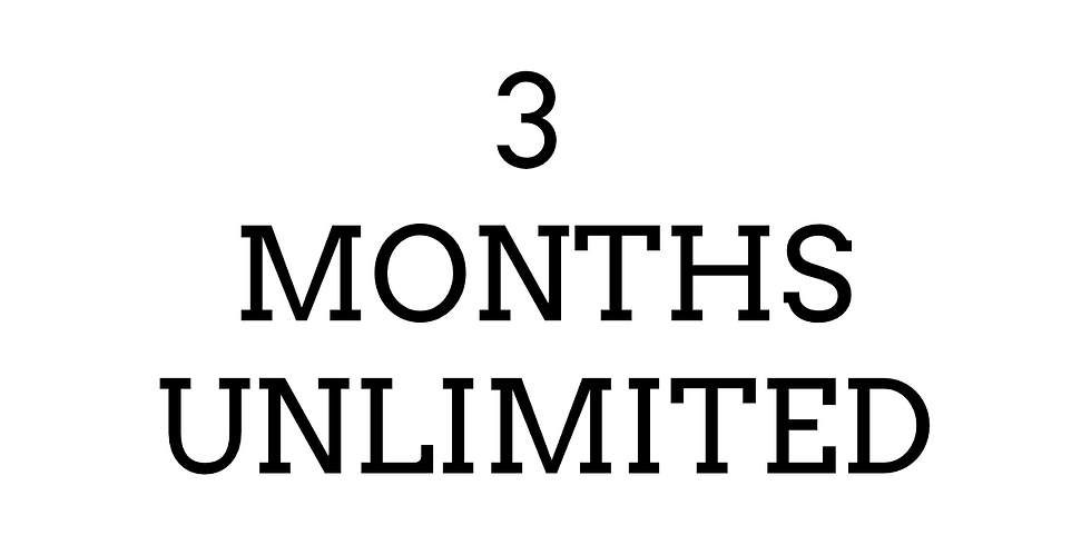 3 Months- Unlimited ($175)