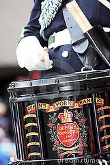 Queen's York Rangers Drummer and Drum
