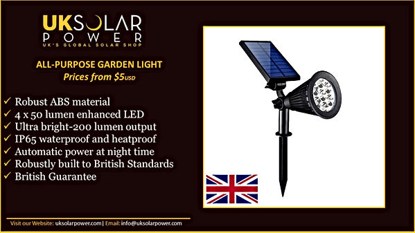 Solar Garden Lamps, Global UK Solar Panel
