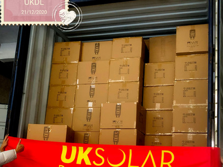 UKDL street light containers heading for Barbados...