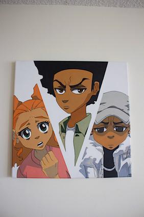 The Boondocks: Jazmine Dubois, Huey Freeman and Riley Freeman