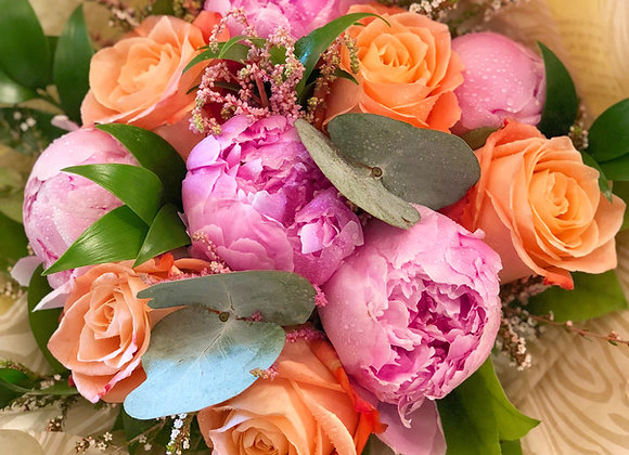 Bouquet of Peonies & Roses