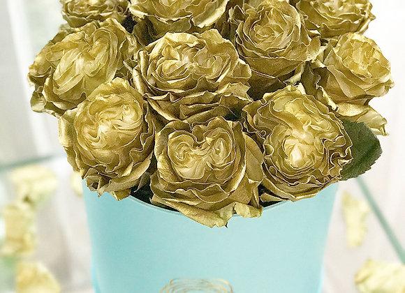 Premium Tiffany Blue Box - Antique Gold Roses