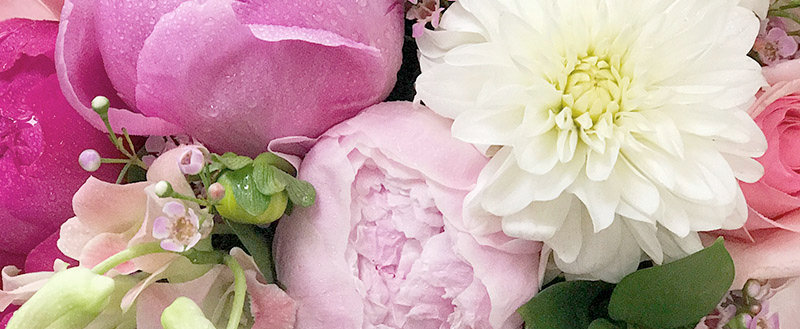 Premium White Box - Peonies, Dahlias and a Seasonal Mix