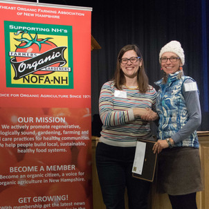 Board President Amy Manzelli presented Stephanie Zydenbos with the 'Mentor of the Year' Award