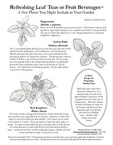 c.p. 2020 Herbal Teas and Beverages NOFA