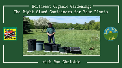 NOFA-NH Right Sized Containers for Plant