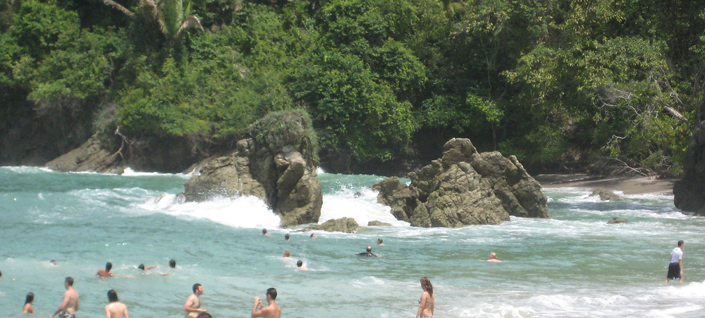 A cove on the Pacific Ocean in Costa Rica