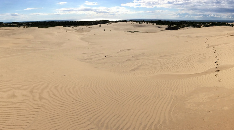 Huge sand dunes are devouring Silver Lake
