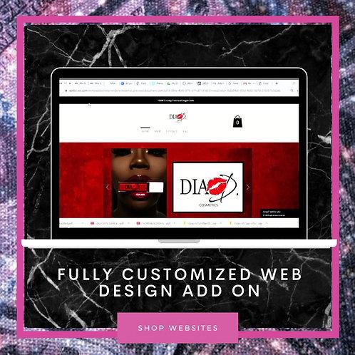 Fully Customized Web Design Add On