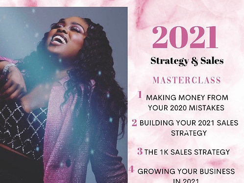 2021 Sales & Strategy Training
