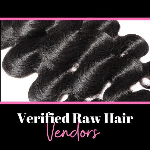 The Verified Hair Vendor List