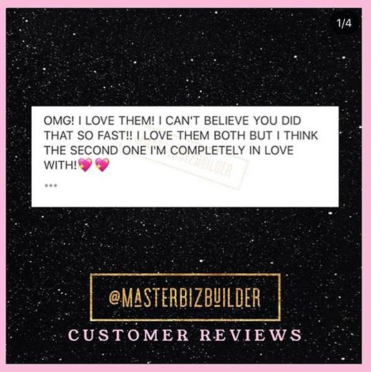 #CustomerReviews 💗 . . I love & appreci