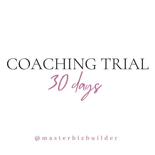 30 Day Coaching Trial