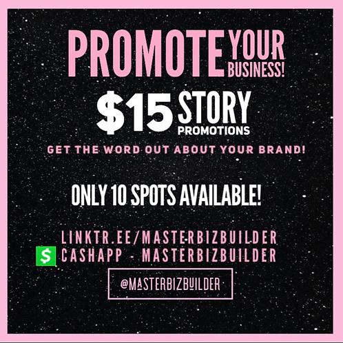 IG Story Promo