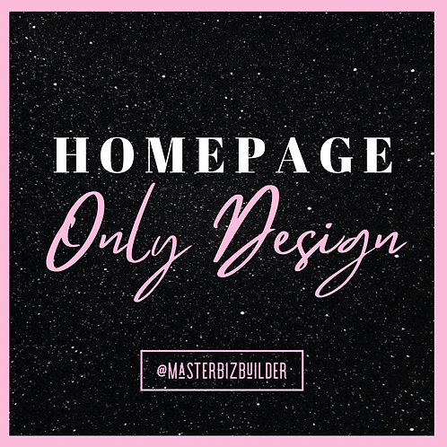 Homepage Only Design