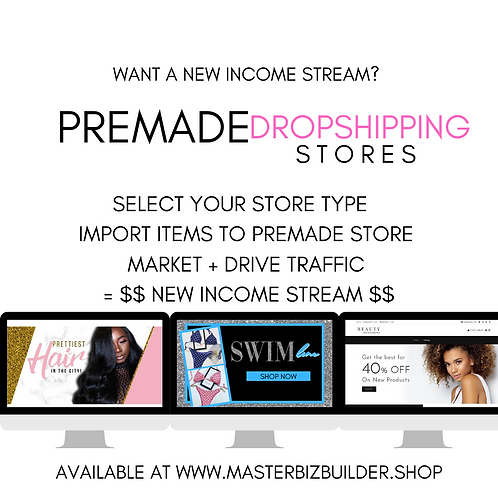 Pre Made Dropshipping Stores