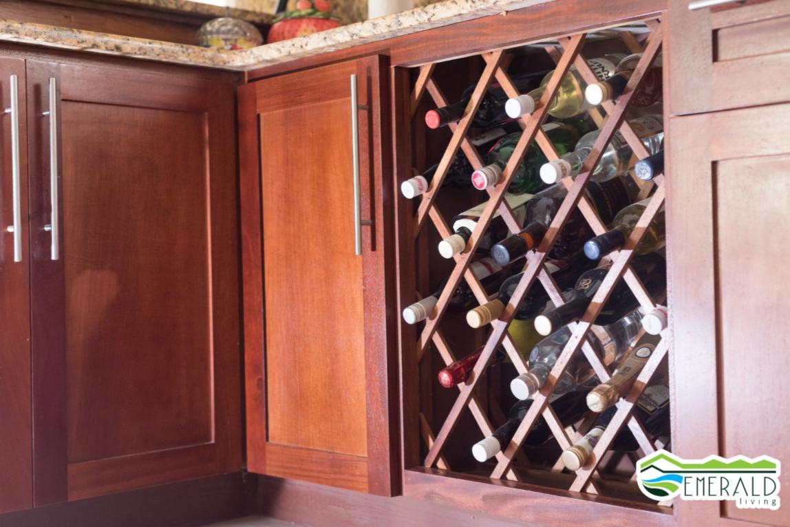 EMERALD LIVING |Kitchen wine storage