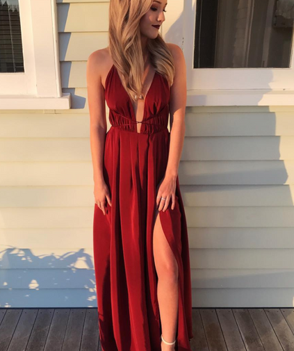 Blossom Rust Gown