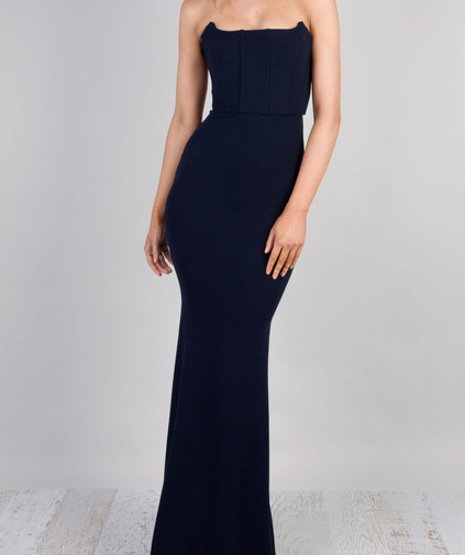 Elvira Navy Gown
