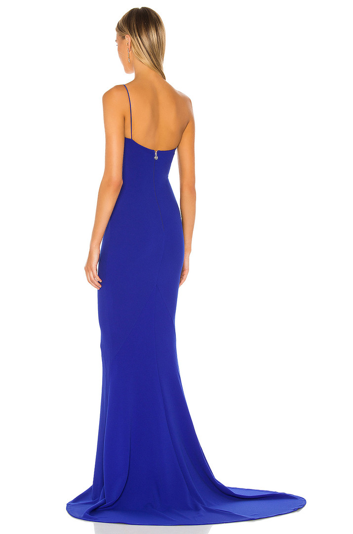 Jasmine One Shoulder Royal Sapphire Gown