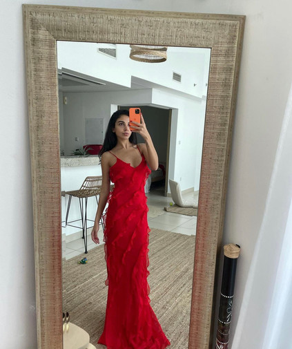 Cecelia Red Gown