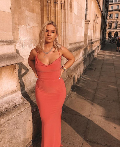 Arabella Coral Gown