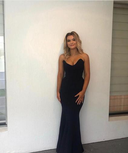 Diamond Navy Gown
